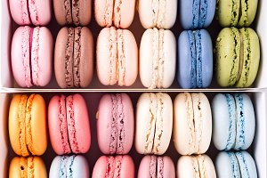 Multicilored macaroon rotating