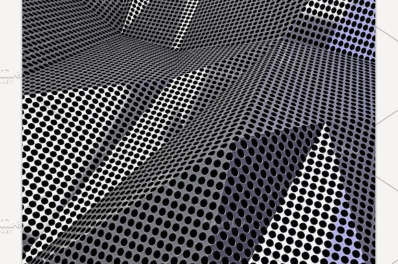 Carbon Abstract Dotted Background