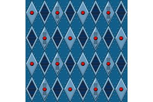 Mechanical seamless pattern