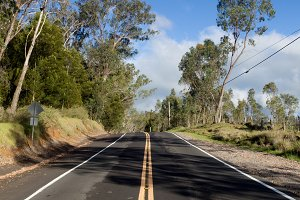 Country road on Hawaii