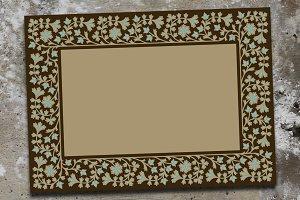 Arabic Floral Frame Set