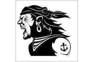 Furious pirate - Screaming sailor