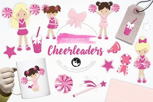 Cheerleaders illustration pack