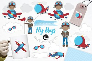 Fly Boys illustration pack