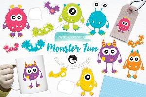 Monster Fun illustration pack