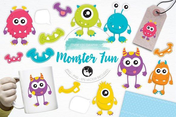Monster Fun Illustration Pack