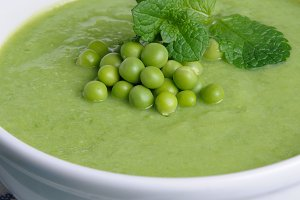 Pea soup puree