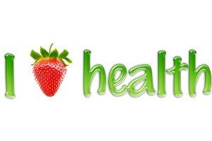 """Text """"I Love health"""""""