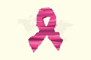 Breast cancer awareness symbol.