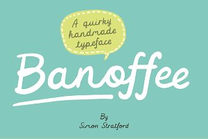 Banoffee handmade script font
