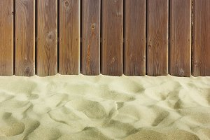 fence & sandy beach