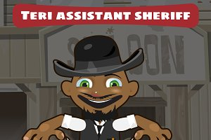 Sheriff assistant, cartoon character