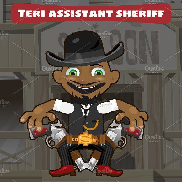 Sheriff Assistant Cartoon Character