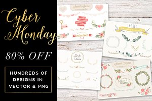 80% Off Cyber Monday Graphic Bundle