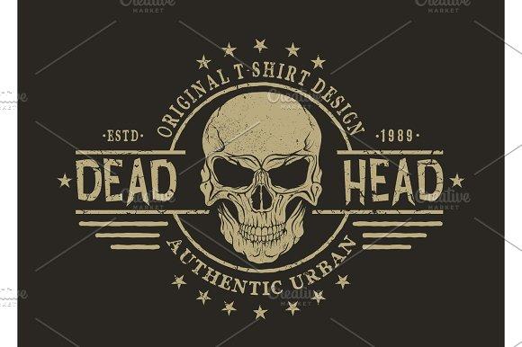 Retro Emblem With Skull