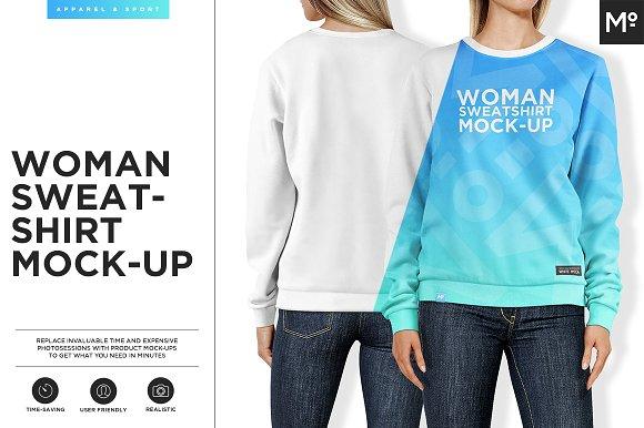 Download Women Sweatshirt Mock-up
