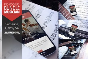 Android Mockups set Musician