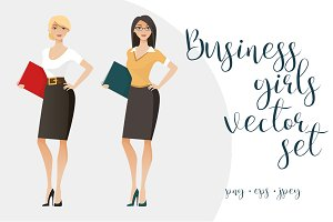 Business girls set