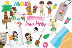 Luan Party illustration pack