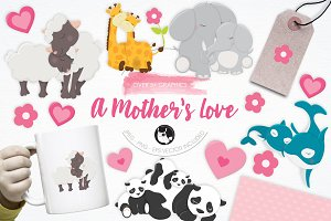 A Mother's Love illustration pack