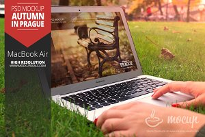 Macbook Air Mockup Autumn
