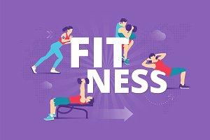 Fitness typographic poster