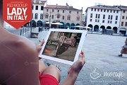 iPad 2 Mockup Lady in Italy