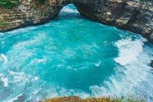 Ocean beach rock