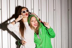 girls eating lollipops