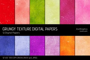 Grungy Texture Digital Papers