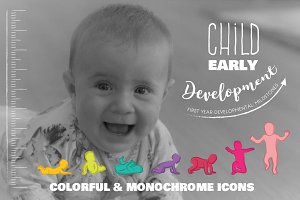Child early development icons