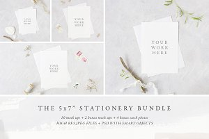 "BUNDLE: 5x7"" stationery mock up pack"