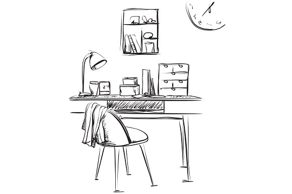Workplace Sketch Interior
