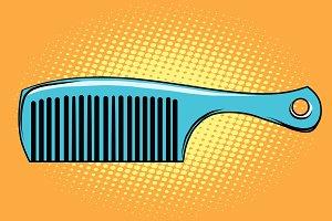 Blue hair comb