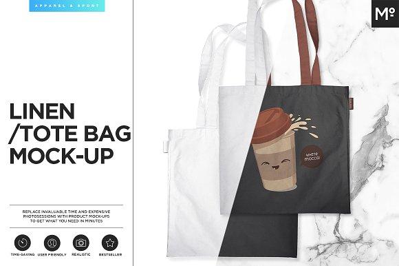 linen tote bag mock up product mockups creative market