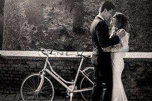 Dreamy wedding couple
