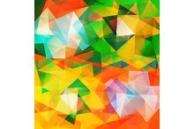 Set triangle Background.