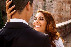 Look from groom's shoulders