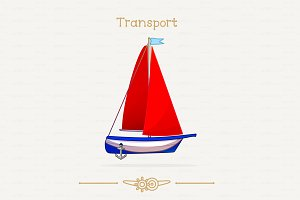 ♥ vector Sailboat toy