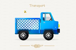 ♥ vector cute lorry