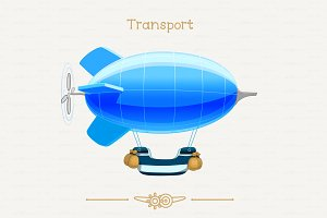 ♥ vector zeppelin, blimp, dirigable