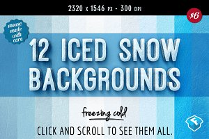 12 Iced Snow Background Textures