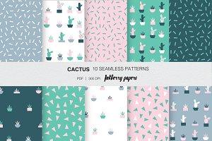 Cactus- seamless pattern