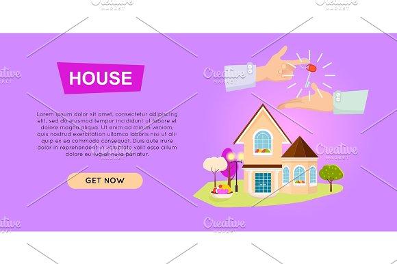 Buying House Online Property Selling Web Banner