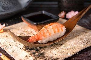 Ama Ebi Shrimp Nigiri Sushi
