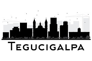 Tegucigalpa City Skyline