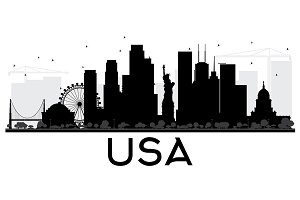 USA City skyline