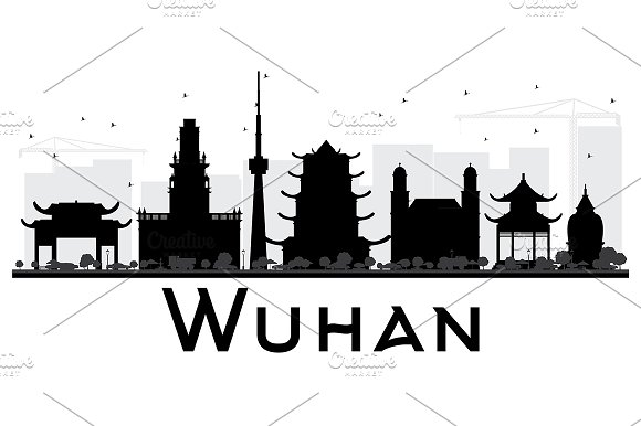 Wuhan City Skyline