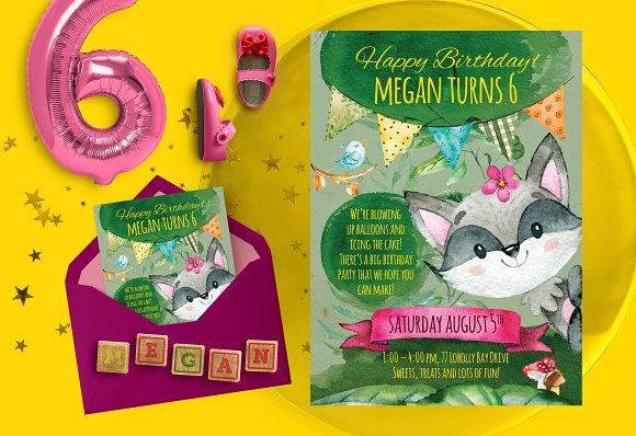 Forest happy birthday invitation Invitation Templates Creative – Happy Birthday Invite
