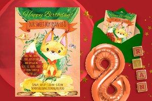 Forest happy birthday invitation